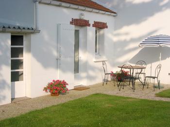 Terrasse du gîte Champfleuri