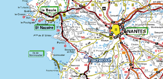 Plan d'accès Machecoul